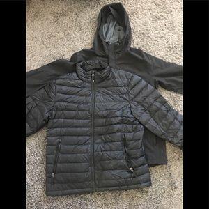 Jacket and rain jacket ser